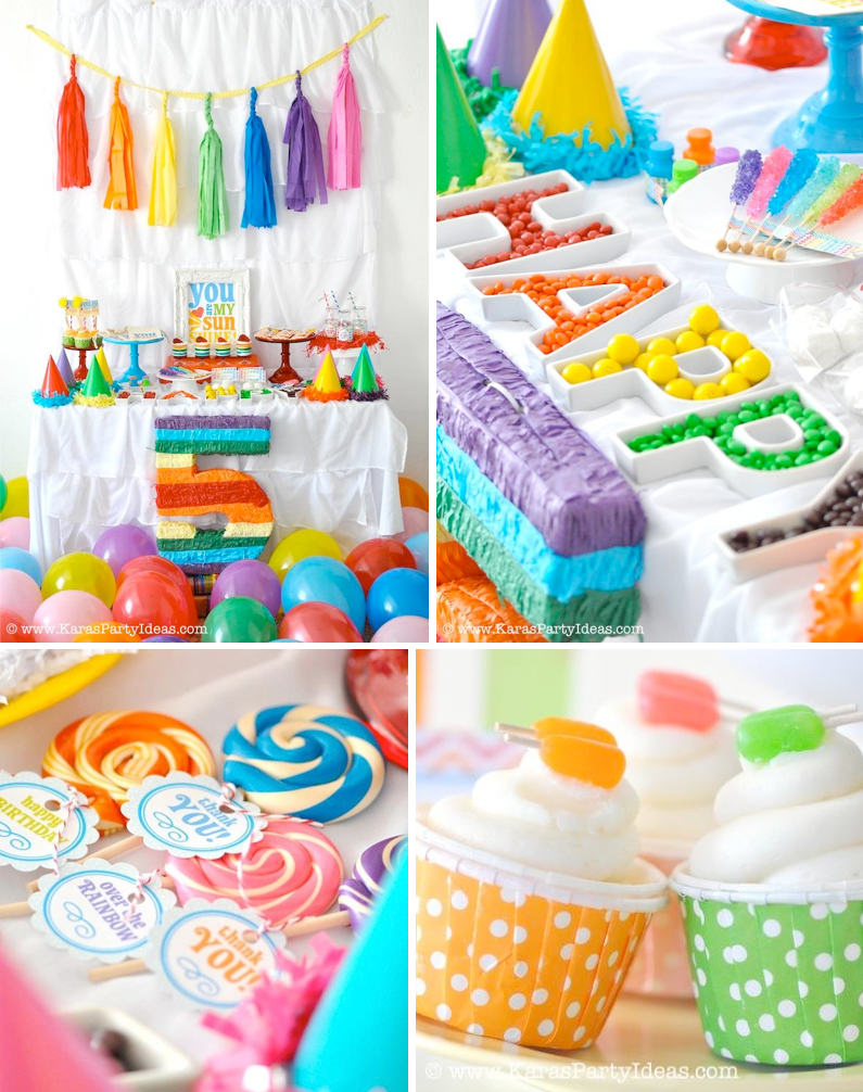 Rainbow Theme Birthday Party Ideas