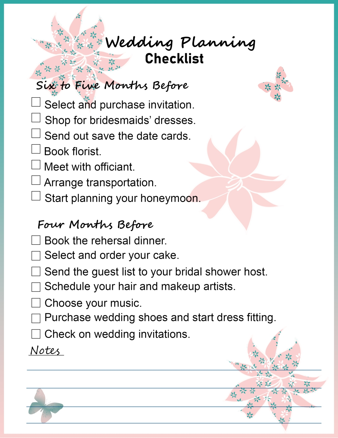 How To Start Planning A Wedding.How To Plan A Wedding Printable Binder Checklists