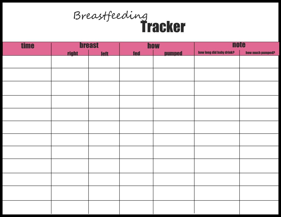 breast feeding tracker