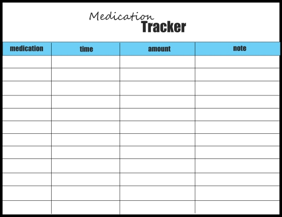 medication tracker blue and black