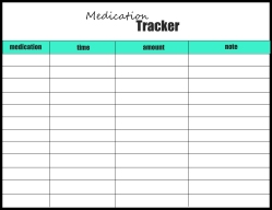 medication tracker mint and black